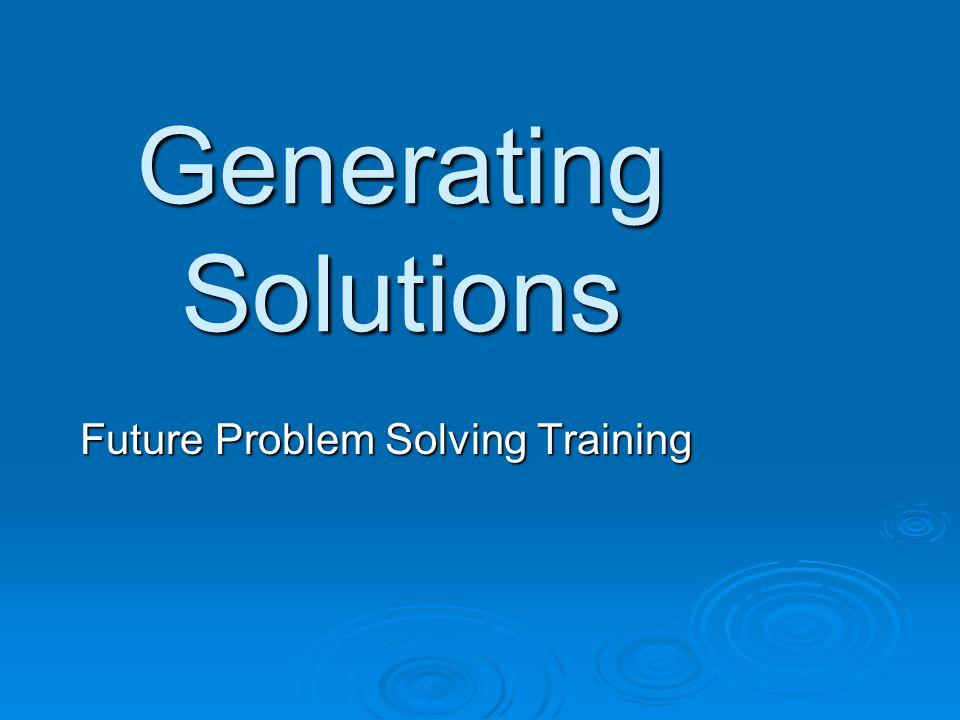 Future Problem Solving Training