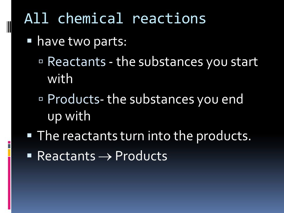 All chemical reactions