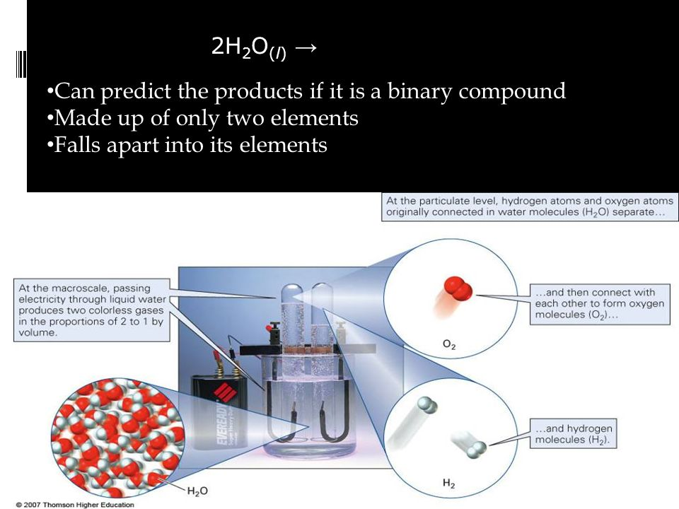 Can predict the products if it is a binary compound