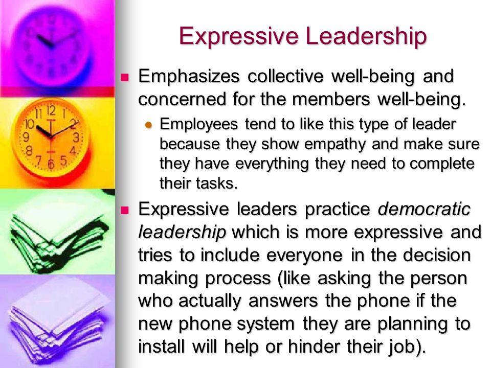Expressive Leadership