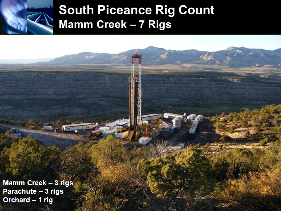 South Piceance Rig Count Mamm Creek – 7 Rigs