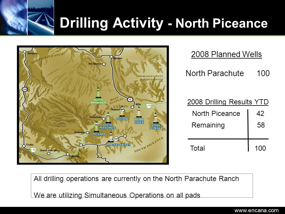 Drilling Activity - North Piceance