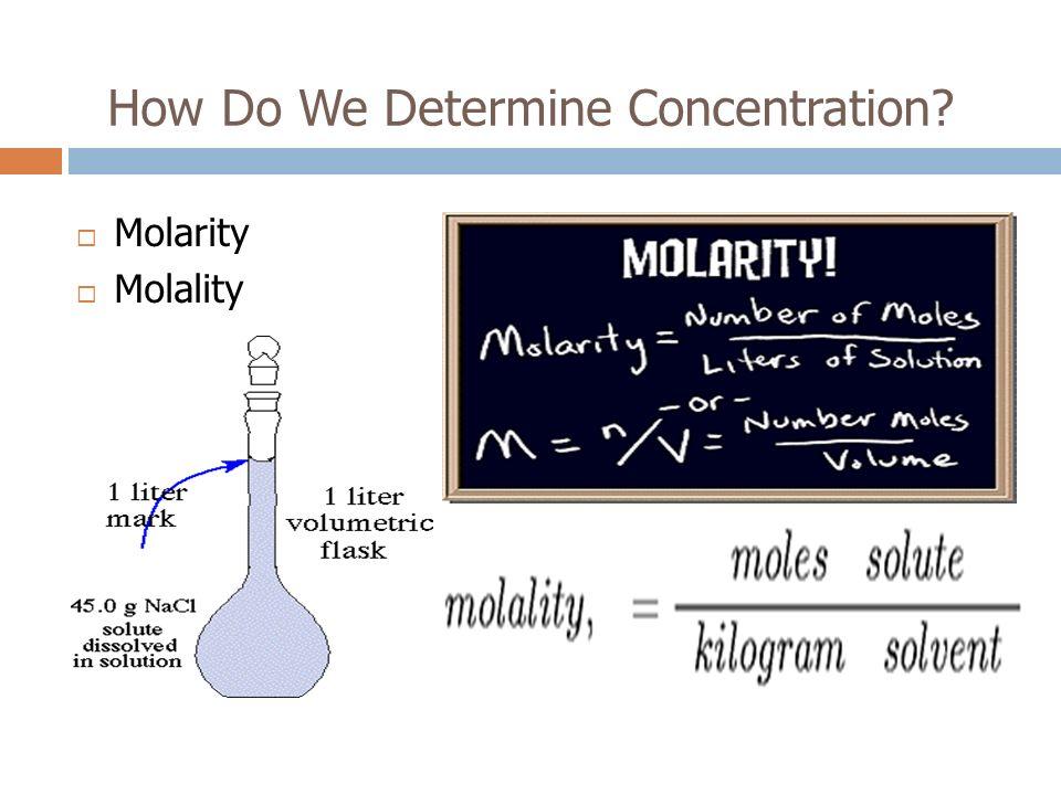 How Do We Determine Concentration