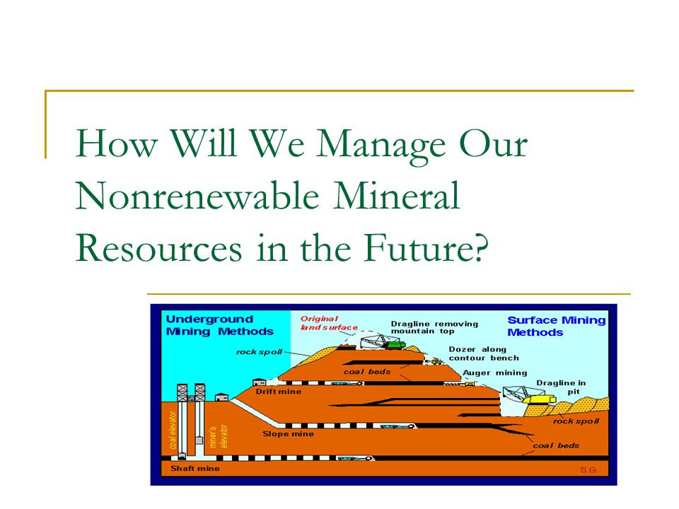 How Will We Manage Our Nonrenewable Mineral Resources in the Future