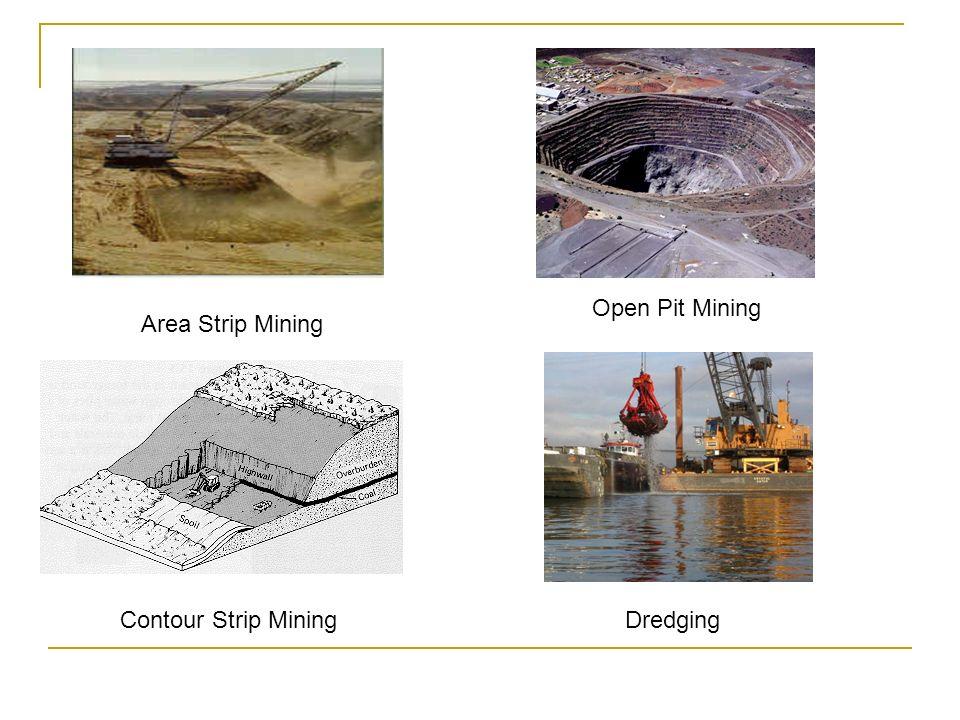 Open Pit Mining Area Strip Mining Contour Strip Mining Dredging