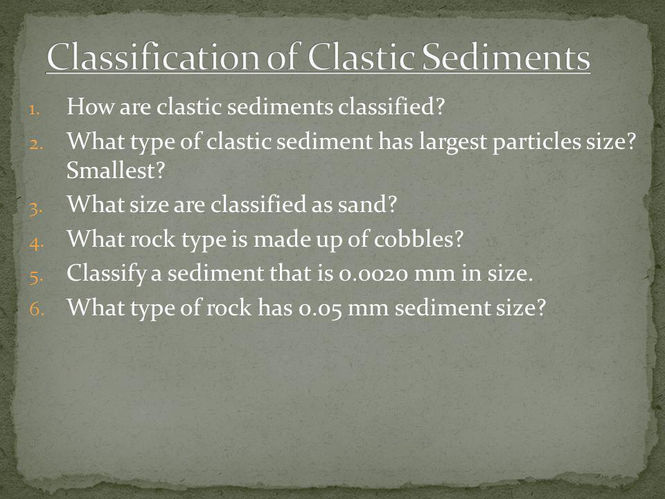 Classification of Clastic Sediments