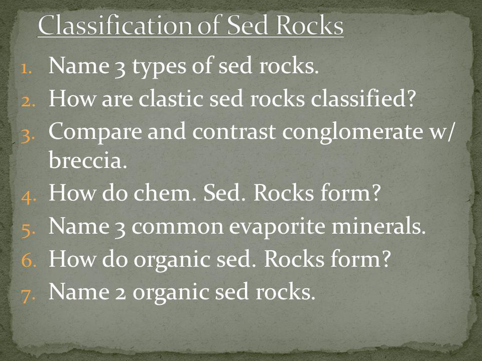 Classification of Sed Rocks