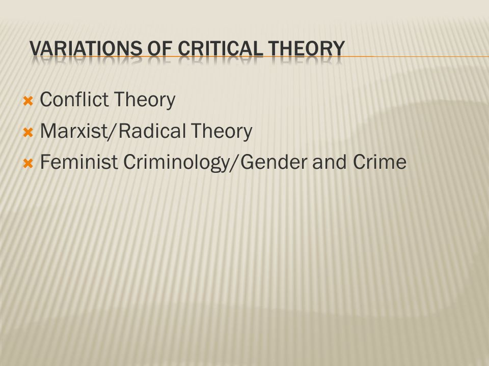 the feminist critique of classical criminology criminology essay The concept of critical criminology – that crime and the present day processes of  criminalization are rooted in the core structures of society – is of more relevance.