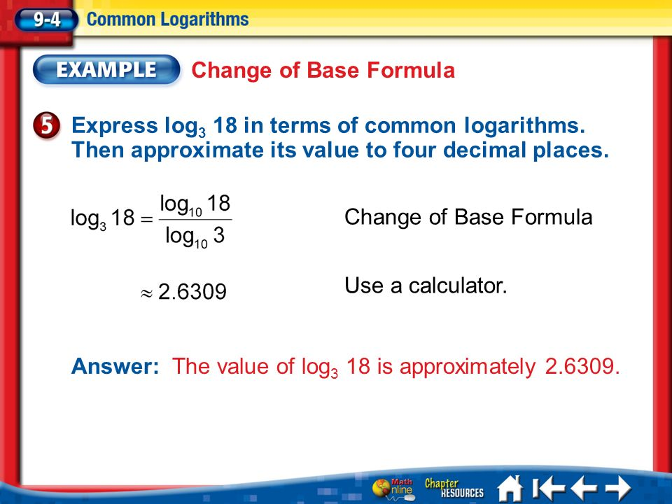 Answer: The value of log3 18 is approximately 2.6309.