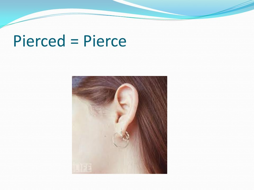 Pierced = Pierce The ear ring has a small beautiful cannon on it that shoots small copper cannon balls.