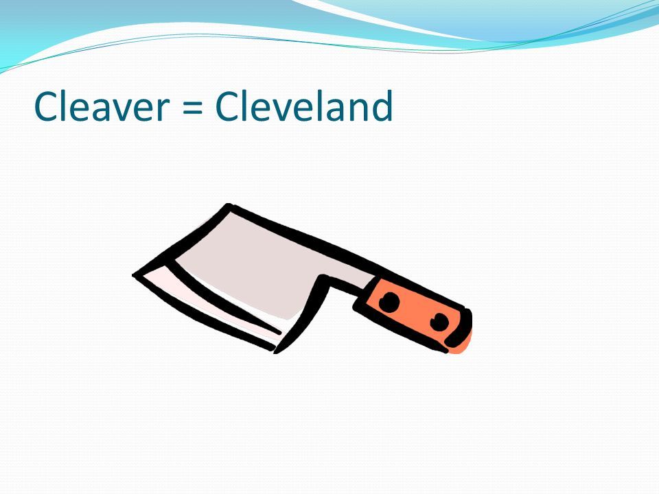 Cleaver = Cleveland It makes a spark starting a fire in the McKindling.