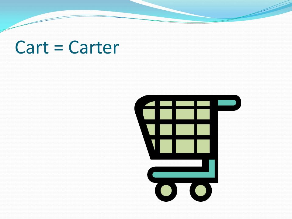 Cart = Carter It turns into a ray gun.