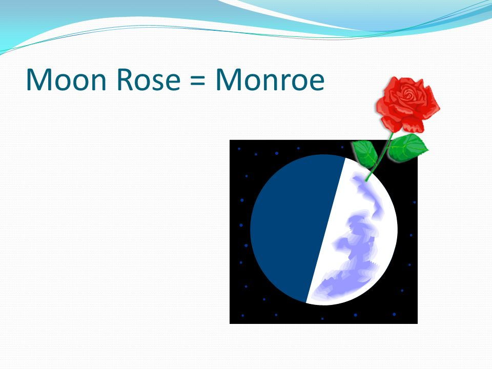Moon Rose = Monroe Bees with atom wings fly out of this moon rose…