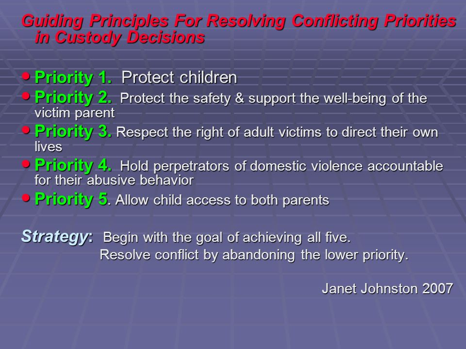 Priority 1. Protect children