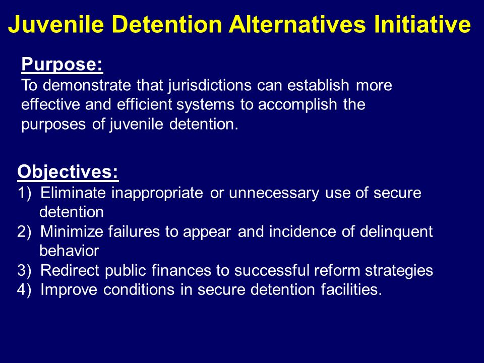 Juvenile Detention Alternatives Initiative