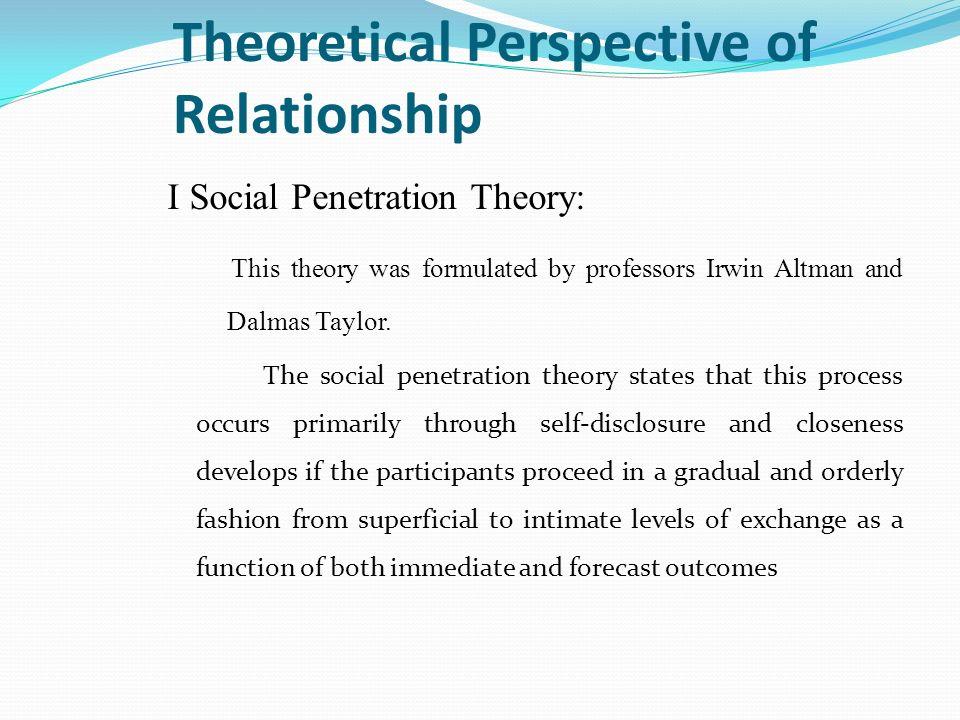 social penetration theory model