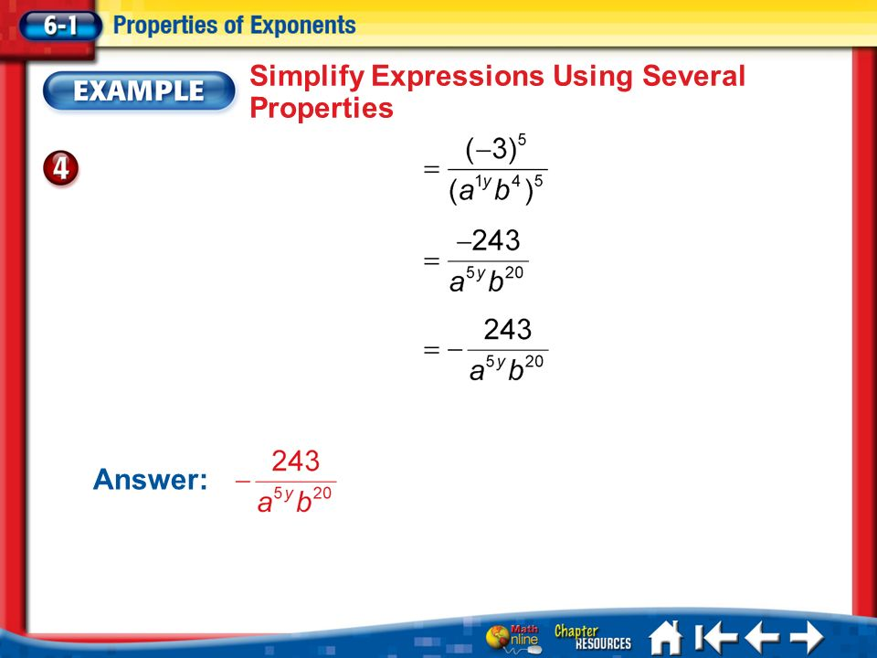 Simplify Expressions Using Several Properties