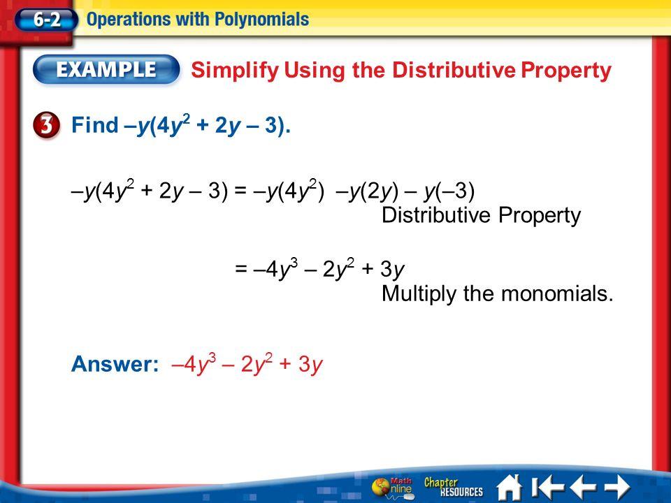 Simplify Using the Distributive Property
