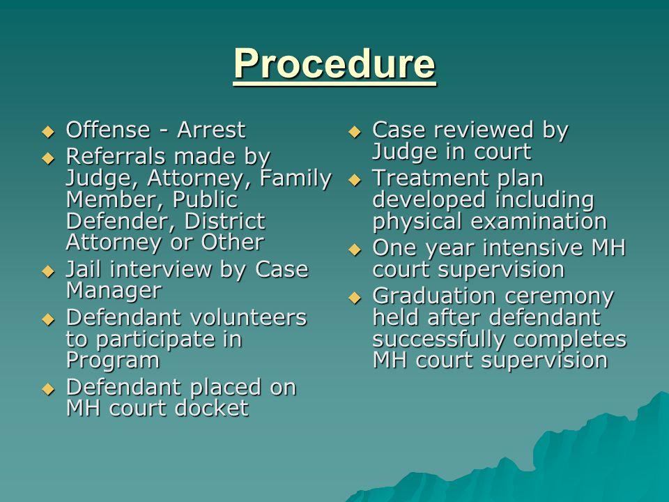 Procedure Offense - Arrest