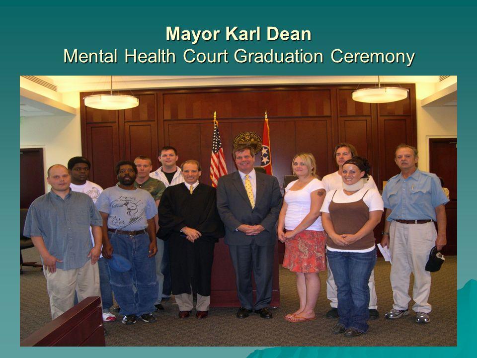 Mayor Karl Dean Mental Health Court Graduation Ceremony