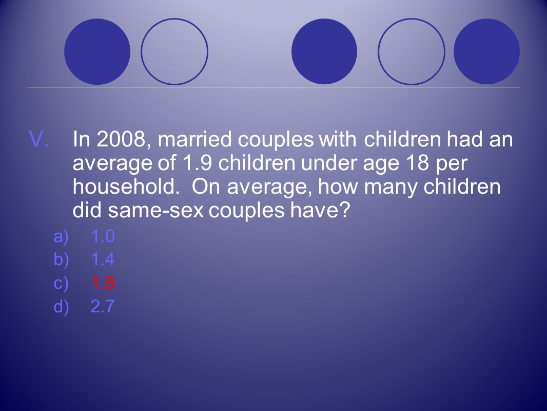 In 2008, married couples with children had an average of 1