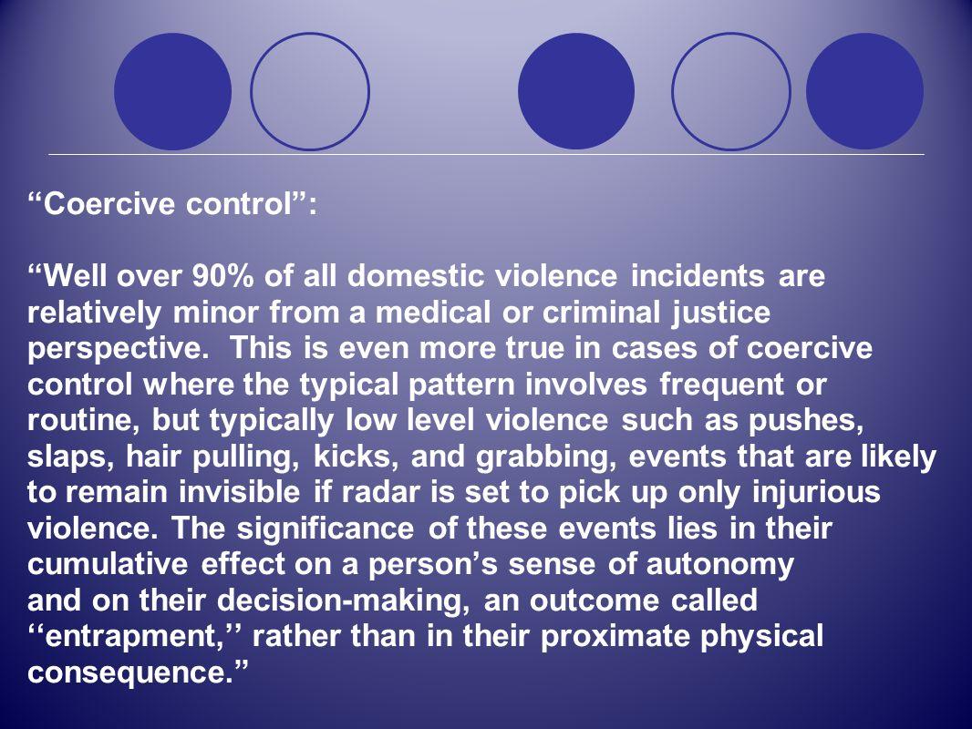 Coercive control :