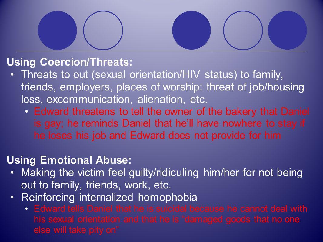Using Coercion/Threats: