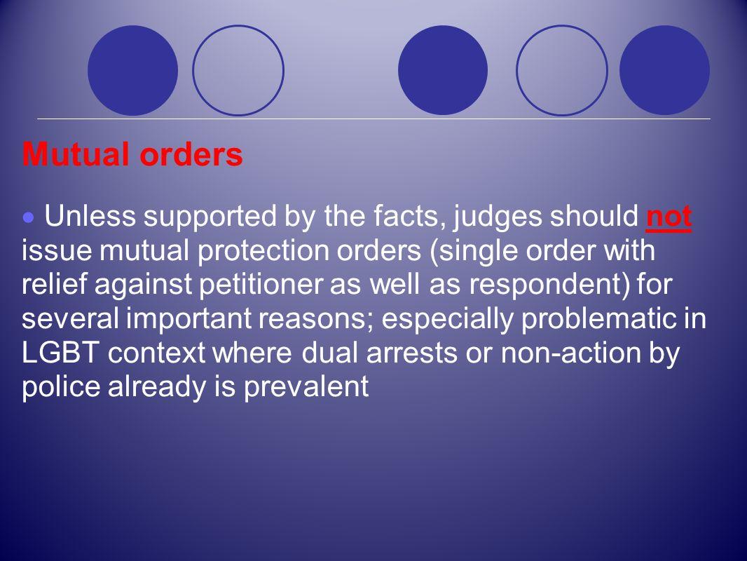 Mutual orders