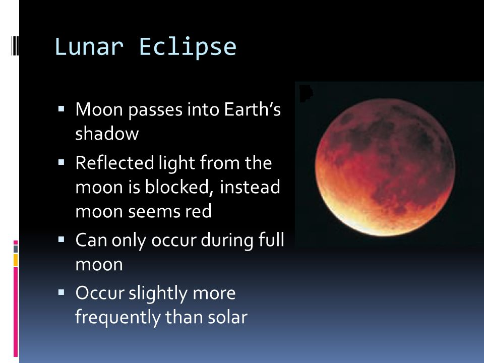 Lunar Eclipse Moon passes into Earth's shadow