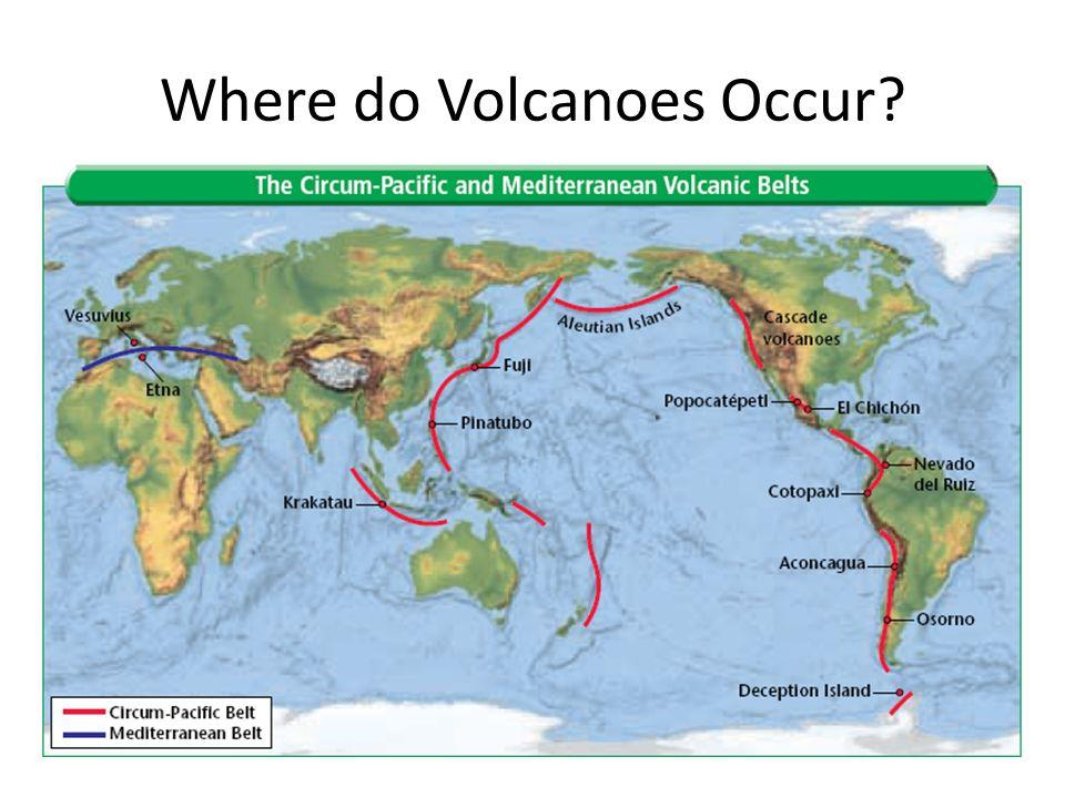 Where do Volcanoes Occur