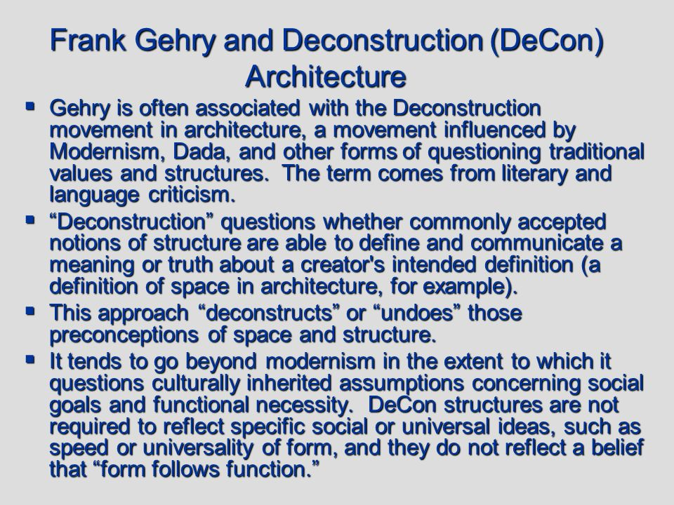 deconstruction theory get to the bottom Its literary implications are partly compatible with the new criticism's rejection of the 'intentional fallacy' or any notion of the author fixing a text's meanings (see also death of the author), as they are with new critical interest in paradox as a feature of poetry but they go further in challenging the claims of any critical system to.
