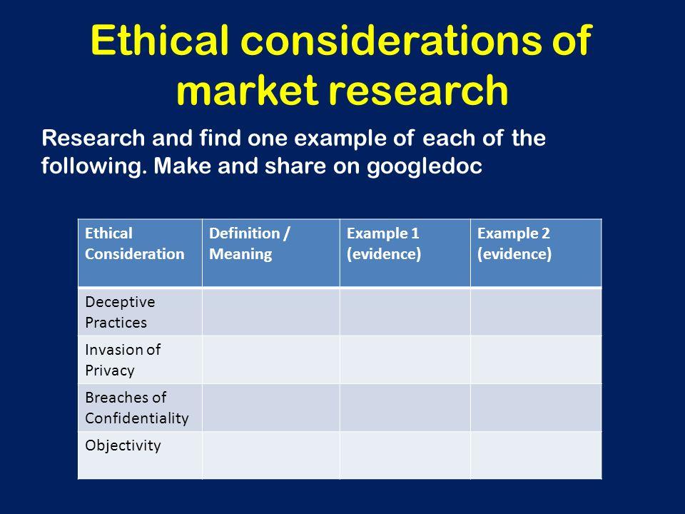ethical considerations in quantitative research Ethics and qualitative research • ethical considerations are more complex than quantitative  ethical issues in qualitative research.