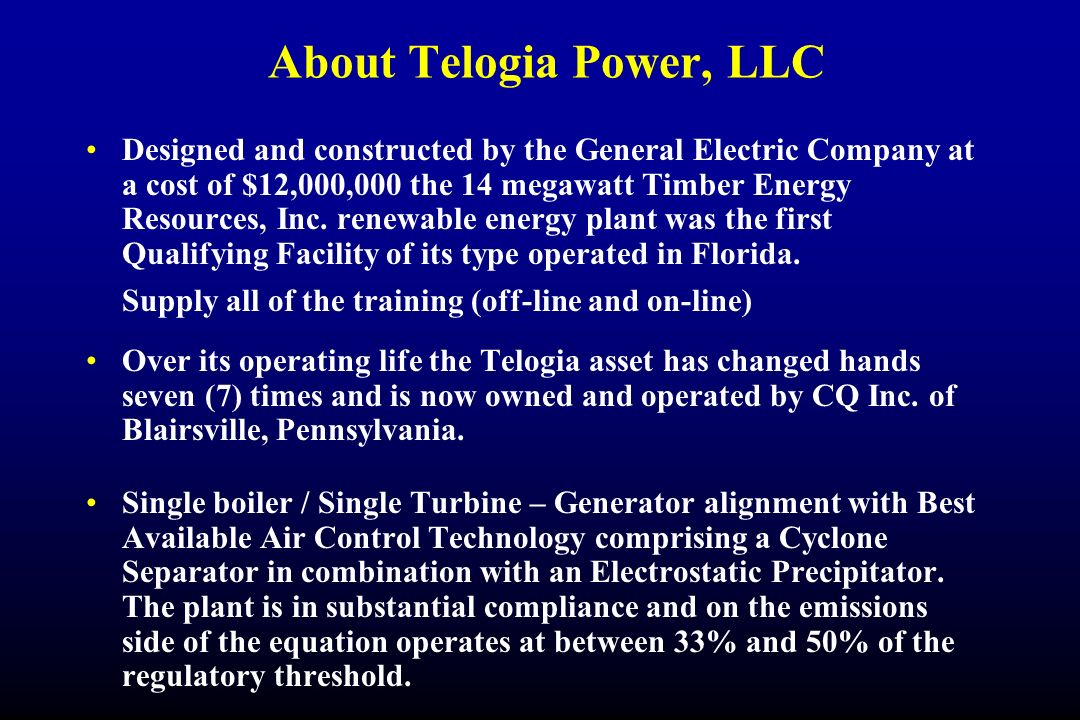 About Telogia Power, LLC