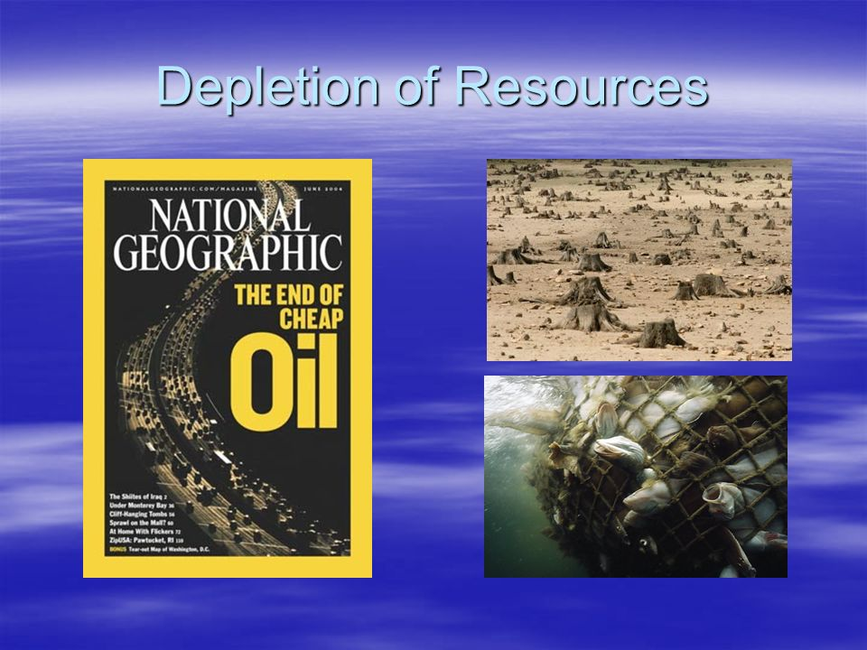 Depletion of Resources