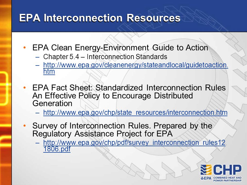 EPA Interconnection Resources
