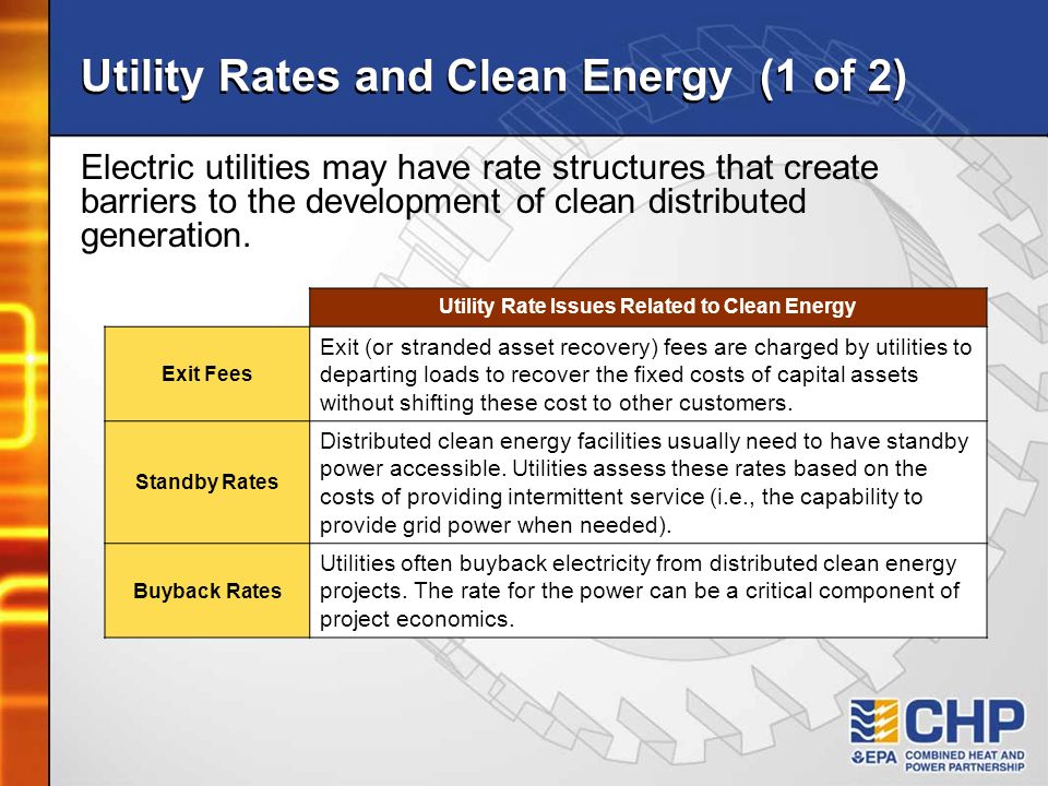 Utility Rates and Clean Energy (1 of 2)
