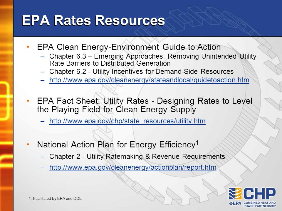 EPA Rates Resources EPA Clean Energy-Environment Guide to Action