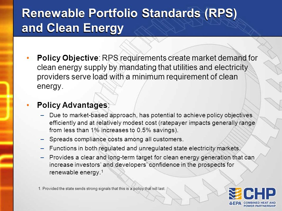 Renewable Portfolio Standards (RPS) and Clean Energy