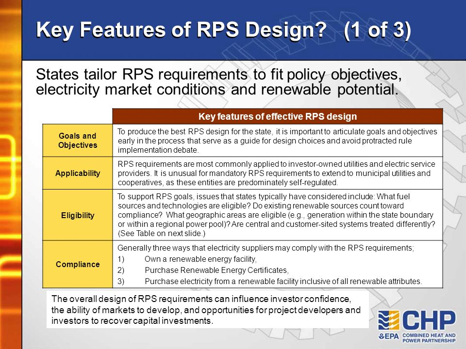 Key Features of RPS Design (1 of 3)