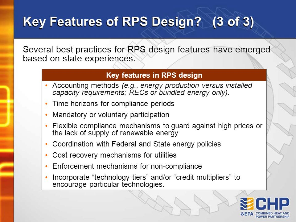 Key Features of RPS Design (3 of 3)