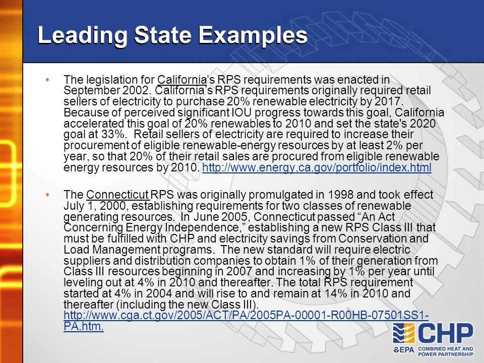 Leading State Examples