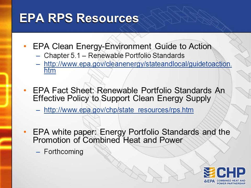 EPA RPS Resources EPA Clean Energy-Environment Guide to Action