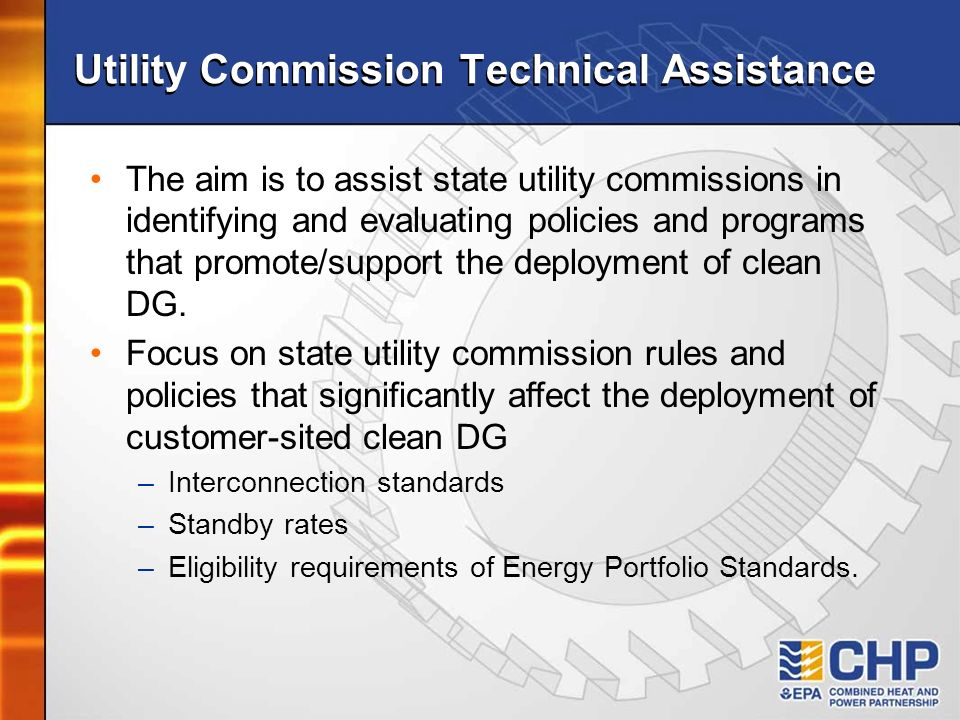 Utility Commission Technical Assistance