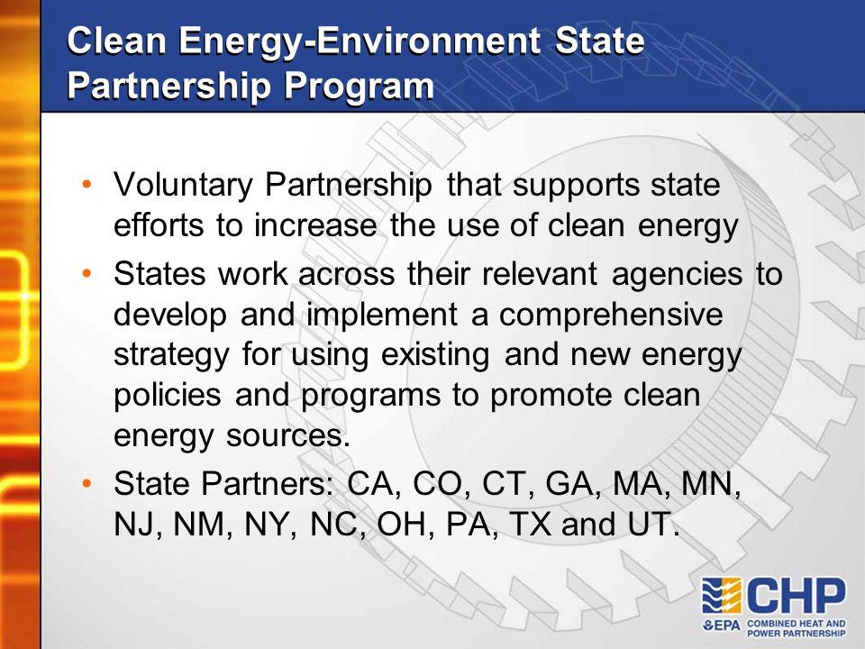 Clean Energy-Environment State Partnership Program