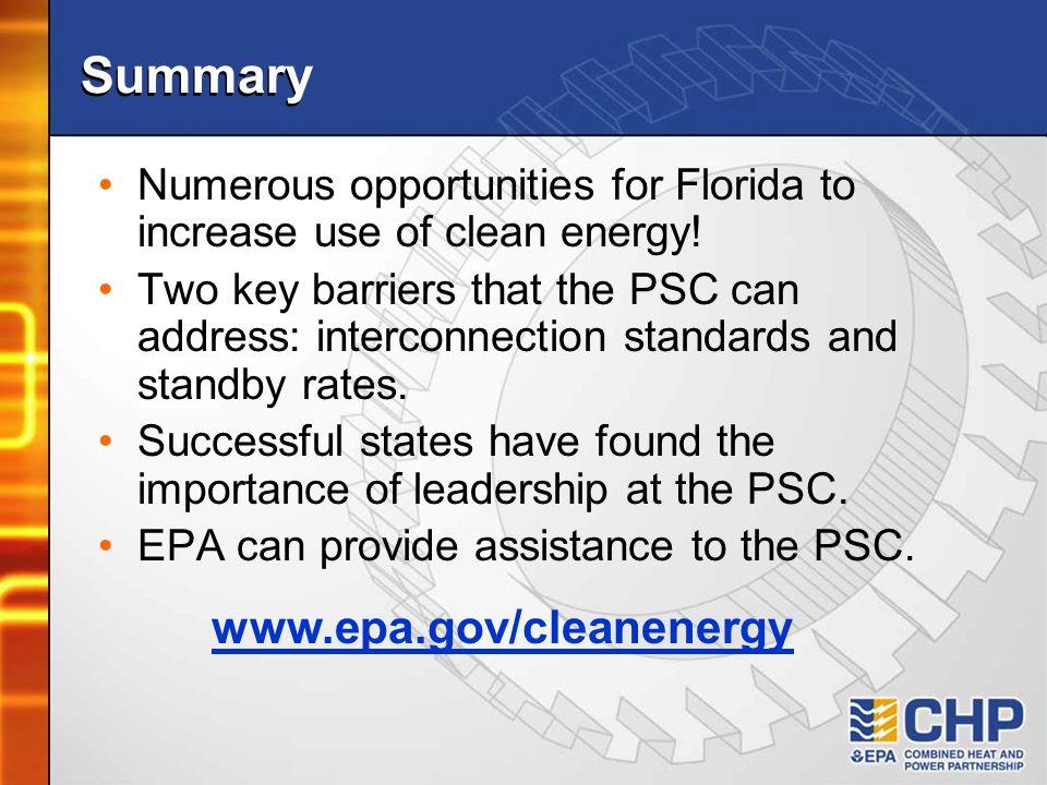 Summary www.epa.gov/cleanenergy