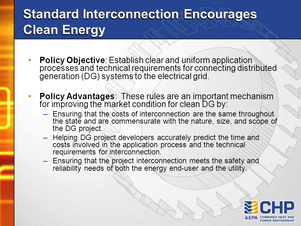 Standard Interconnection Encourages Clean Energy