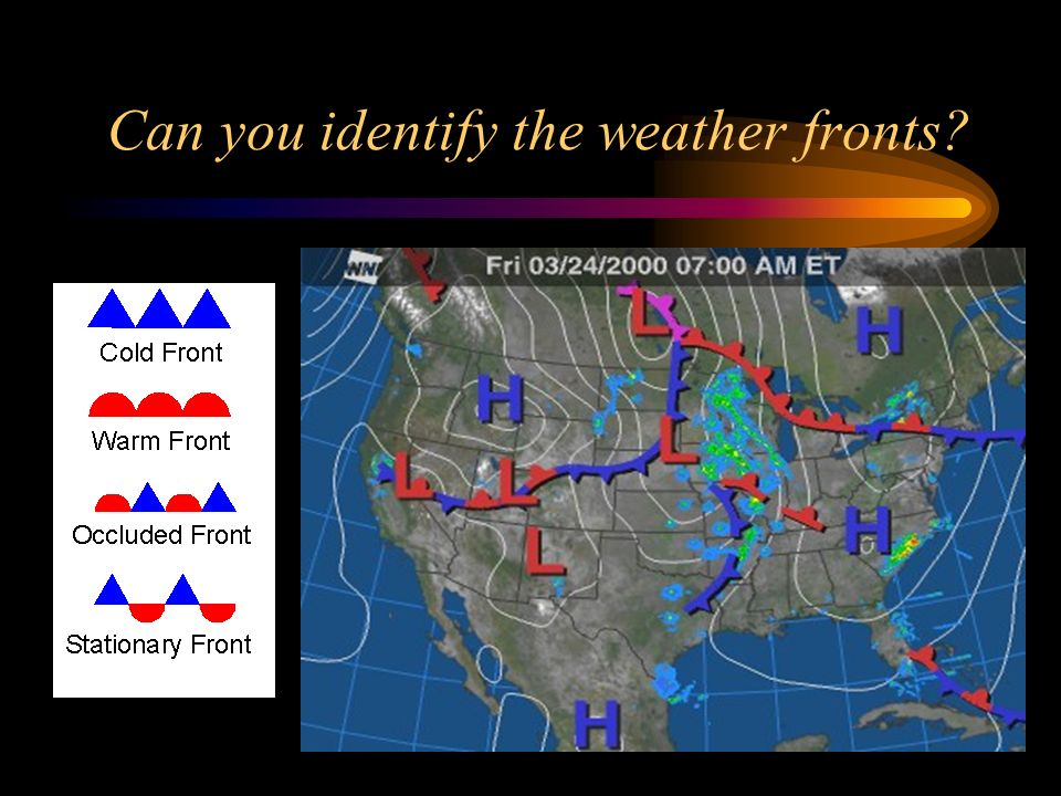 Can you identify the weather fronts