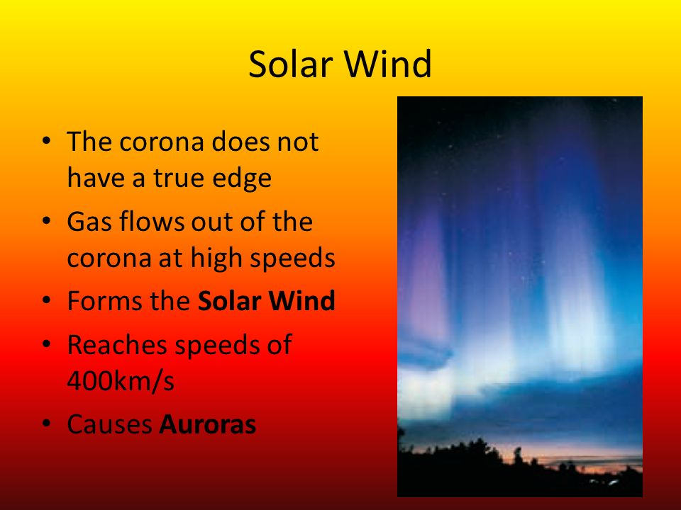 Solar Wind The corona does not have a true edge