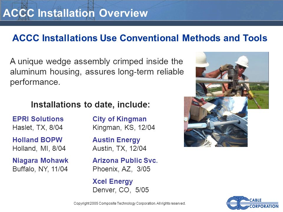ACCC Installation Overview
