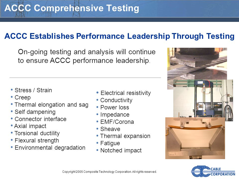 ACCC Comprehensive Testing